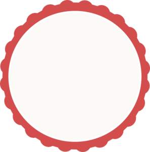 Red-ivory Scallop Circle Frame Clip Art