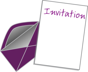 Invite Card Clip Art