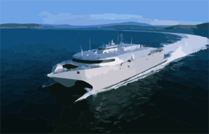 High Speed Vessel Two (hsv 2) Swift Is Participating In The West African Training Cruise Clip Art
