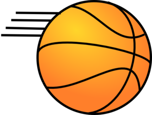 Basketball W/lines At End Clip Art