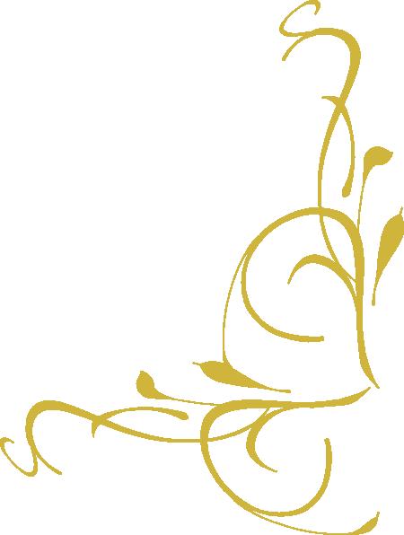 Corner Swirl Gold Clip Art at Clker.com - vector clip art ...