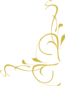 Corner Swirl Gold Clip Art