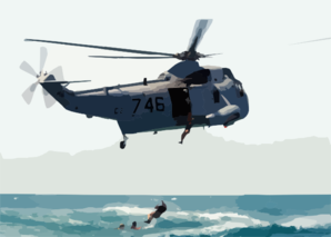 Sh-3 Helo Recovers Eod Team Clip Art