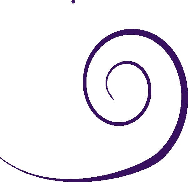 Plain Swirl Purple Clip Art at Clker.com - vector clip art ...