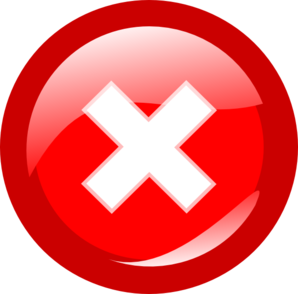 Red Round Cancel Clip Art