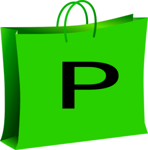 Green Bag For Shopping. Bolsa Verde De Compras. Clip Art