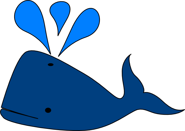 Blue Whale Clip Art at Clker.com - vector clip art online, royalty ...