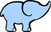 Baby Elephant And Adult Elephant Clip Art