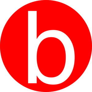 Red, Rounded, With B Clip Art