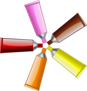 Color Tube Red Yellow Brown Orange Pink Clip Art