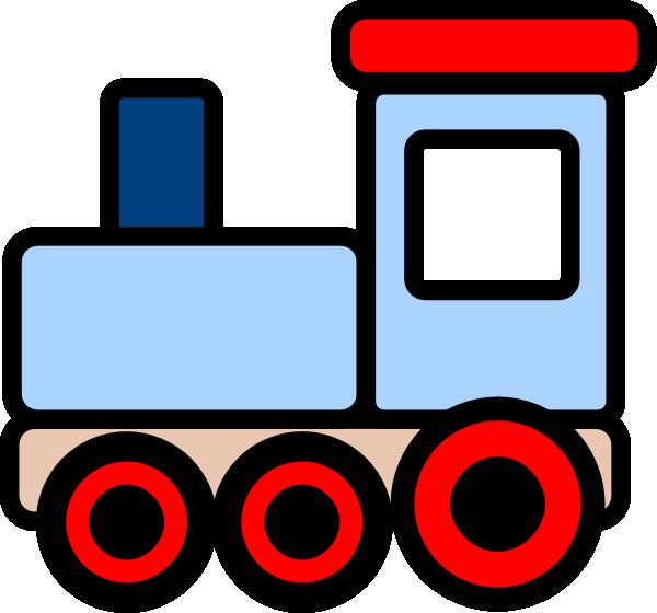 Train Clip Art : Little blue train clip art at clker vector