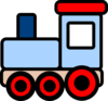 Little Blue Train Clip Art