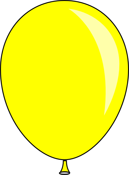 clipart yellow balloons - photo #4