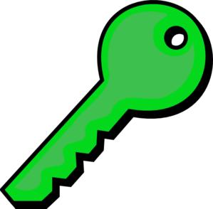 Green Key Clip Art