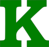 Single K Letter Green Clip Art