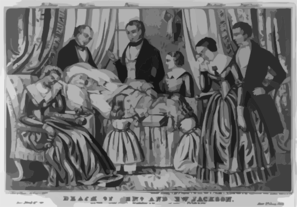 Death Of Genl. Andrew Jackson Clip Art