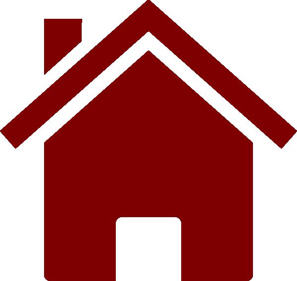 Simple Burgundy House Clip Art At Clker Com Vector Clip