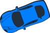 Blue Car - Top View - 200 Clip Art