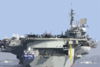 Uss Constellation (cv 64) Departs Her Berth At Nas North Island Clip Art