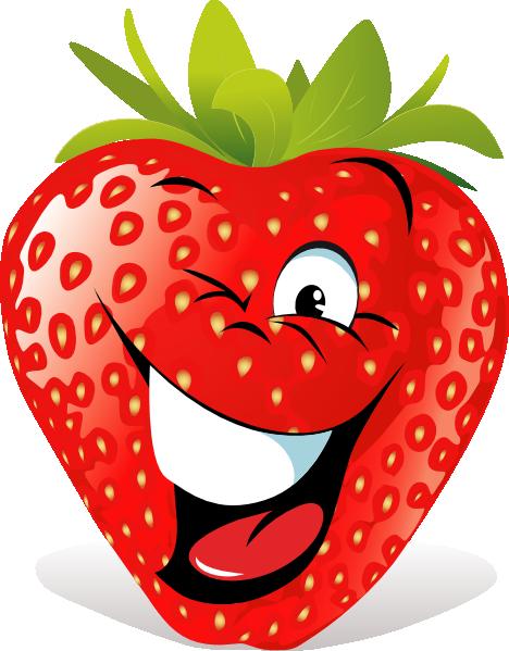Cartoon Strawberry Face Clip Art at Clker.com - vector ...