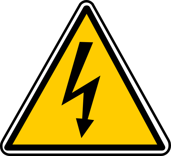 Warning - Electricity Clip Art at Clker.com - vector clip art online ...