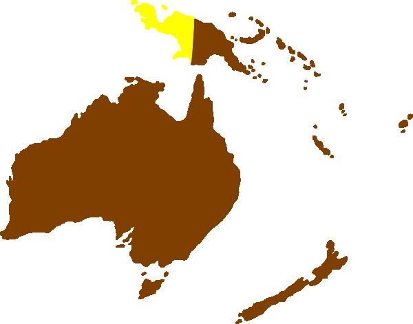 Montessori Australia Continent Map Clip Art at Clker.com - vector ...
