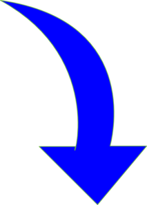 Curved-arrow-bright-blue Clip Art at Clker.com - vector clip art ...