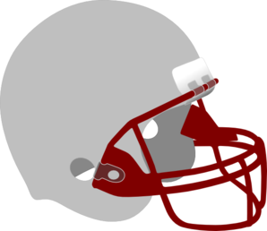 Gray And Red Helmet Clip Art