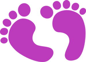 purple baby feet clip art at clker com vector clip art online rh clker com clip art baby feet and hands baby feet clipart free