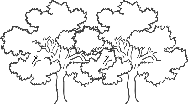 Two Joined Oak Trees Clip Art at Clker.com - vector clip ...