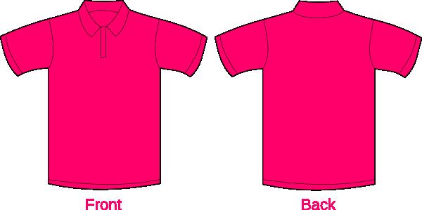 Polo Shirt-hot Pink Clip Art at Clker.com - vector clip art online ...