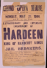 Extraordinary And Expensive Engagement Of Hardeen The King Of Handcuff Kings And Jail Breakers.  Clip Art
