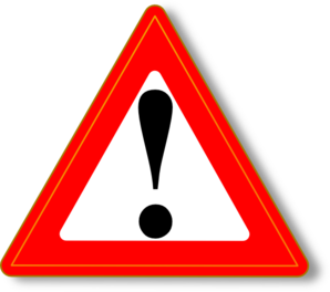 Red Warning Clip Art