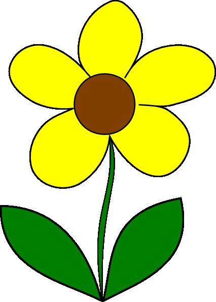 Yellow Flower Clip Art At Clker Vector Clip Art Online
