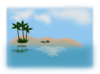 Island In The Ocean Clip Art