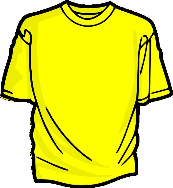 yellow t shirt clip art at vector clip art