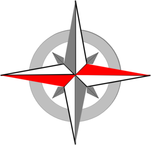 Red Grey Compass Final Clip Art