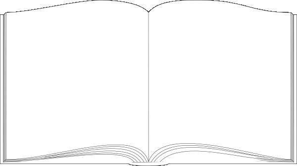 Open Book Pictures Clip Art Open Book Outline Clip Art