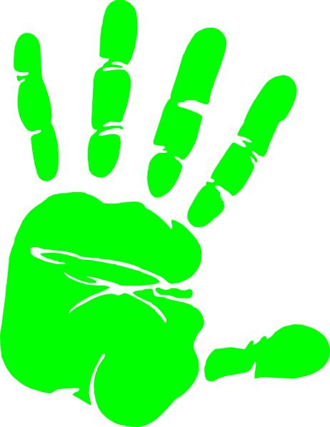 lime hand print clip art at clker com vector clip art online rh clker com handprint clip art free hand print clip art black and white