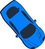 Blue Car - Top View - 310 Clip Art