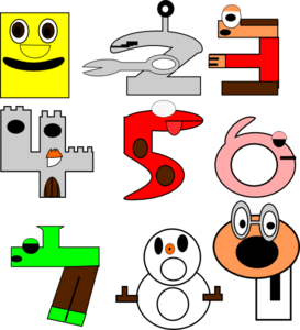 Cartoon Numbers Clip Art