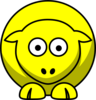 Sheep Looking Straight Yellow Clip Art