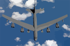 A B-52 Stratofortress Assigned To The 40th Expeditionary Bomb Squadron, Loaded With 12 Joint Direct Attack Munitions (jdam) Heads Toward Iraq With It Clip Art