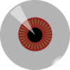 Red Eye Ball Clip Art