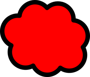 Red Cloud Clip Art