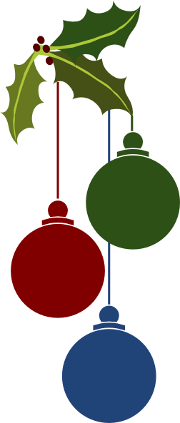 Christmas ornaments clip art at clker vector