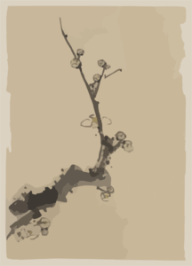 [fruit Tree Branch With Blossoms] Clip Art