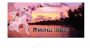 Sunset In The Marshall Islands Clip Art