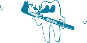 Dental Tooth Teal Clip Art