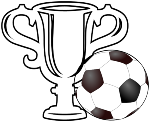 Soccer Ball With Trophy Clip Art